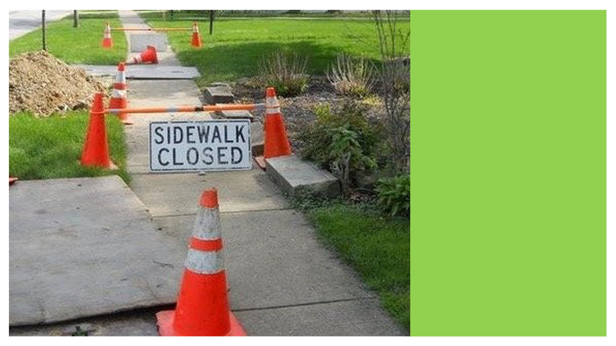 <div id=slideshow_title>Highway Avenue Sidewalk Replacement Project</div> <br>The Highway Avenue sidewalk project will be starting Wednesday, September 9th. Please be advised that access to the downtown businesses and roadway may be temporarily disrupted during construction. The construction is planned to be finished September 21st